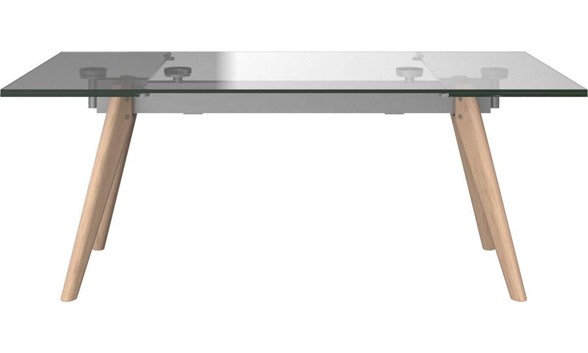 Dining tables - Monza tavolo con piani supplementari - rettangolare - Chiaro - Cristallo