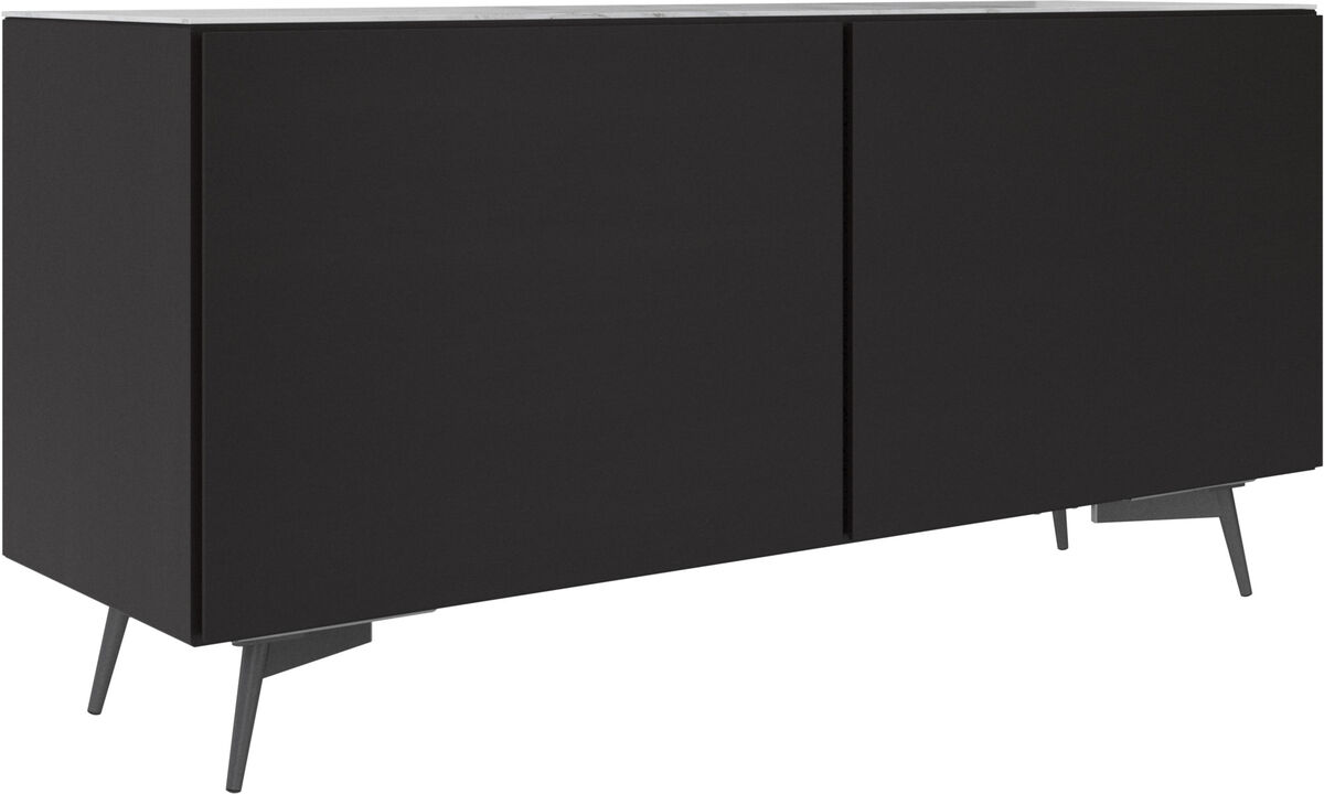 Sideboards - Lugano sideboard with top plate - White - Oak