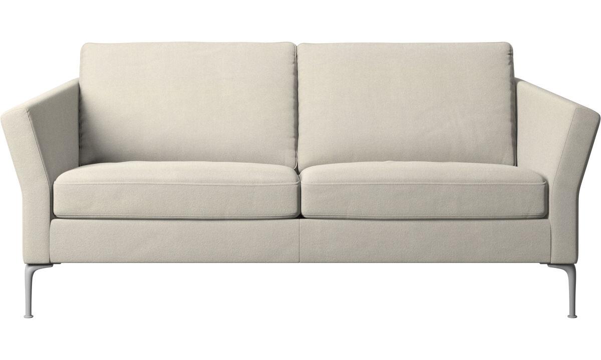 Sofás de 2 plazas y media - sofá Marseille - Blanco - Tela