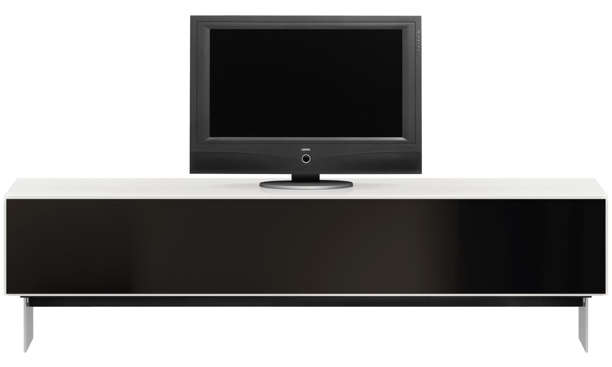 Tv Units   Lugano Entertainment Unit With Drop Down Door   White   Lacquered