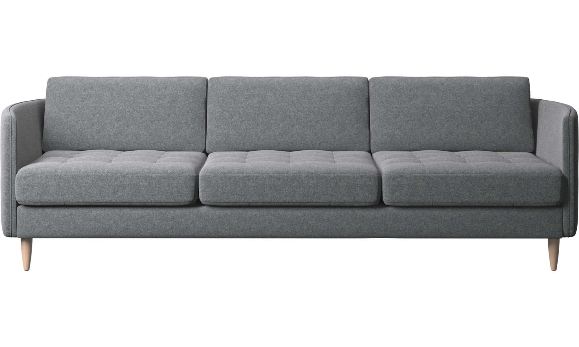 Incroyable 3 Seater Sofas   Osaka Sofa, Tufted Seat   Grey   Fabric ...
