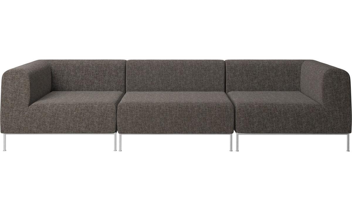 3 personers sofaer - Miami sofa - Brun - Stof