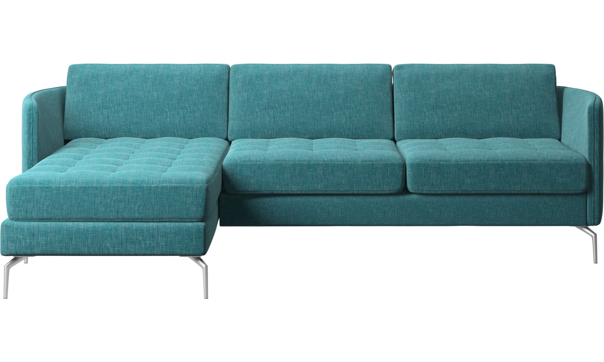 Chaise lounge sofas - Osaka sofa with resting unit tufted seat - Blue - Fabric  sc 1 st  BoConcept : chaise longue sofa - Sectionals, Sofas & Couches
