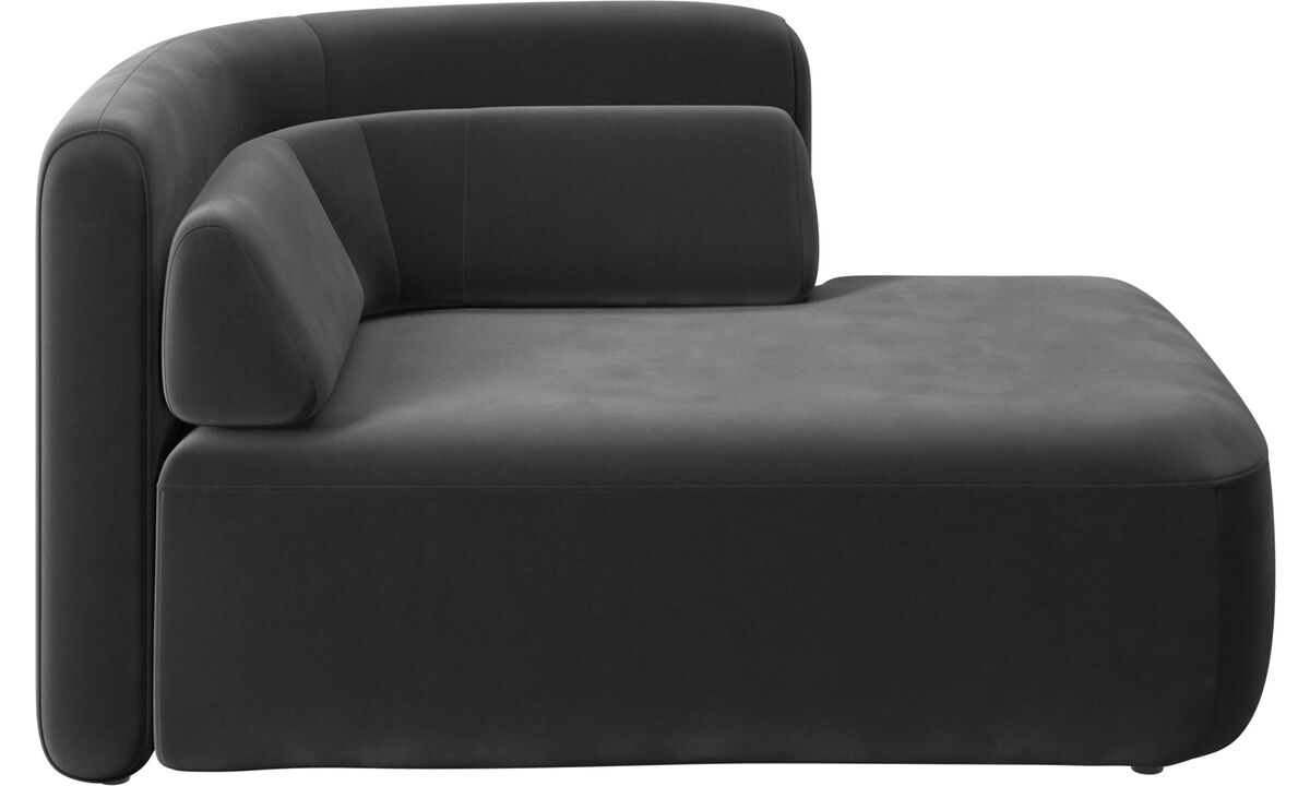 Modular sofas - Ottawa 1,5 seater open end right side - Black - Fabric