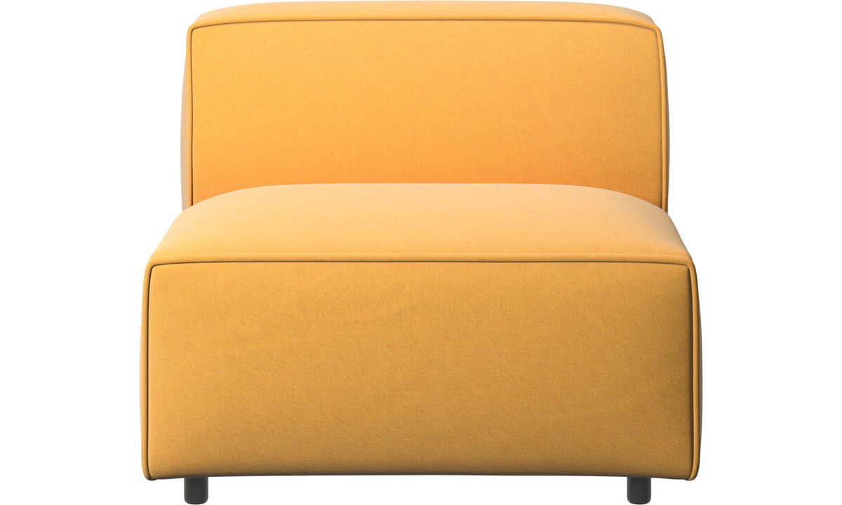 Armchairs - Carmo chair/basic unit - Yellow - Fabric