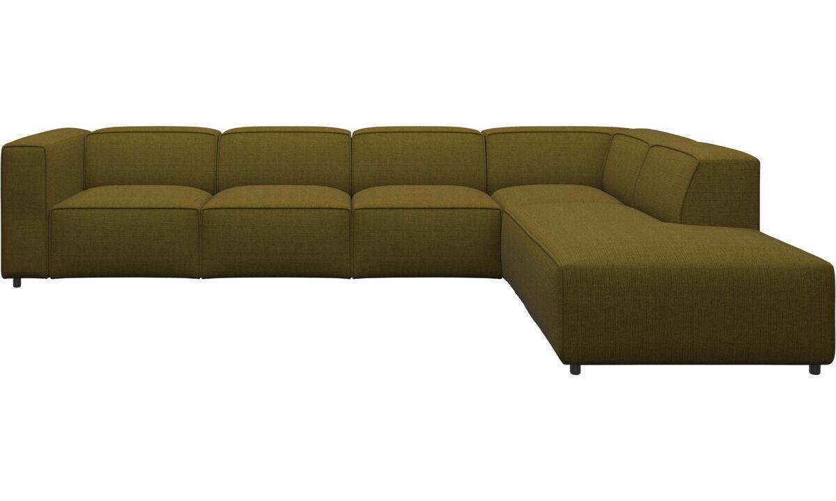 Sofaer med hvilemodul - Carmo hjørnesofa med loungemodul - Gul - Stof