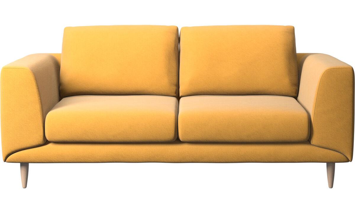 Sofás de 2 plazas - Sofá Fargo - En amarillo - Tela