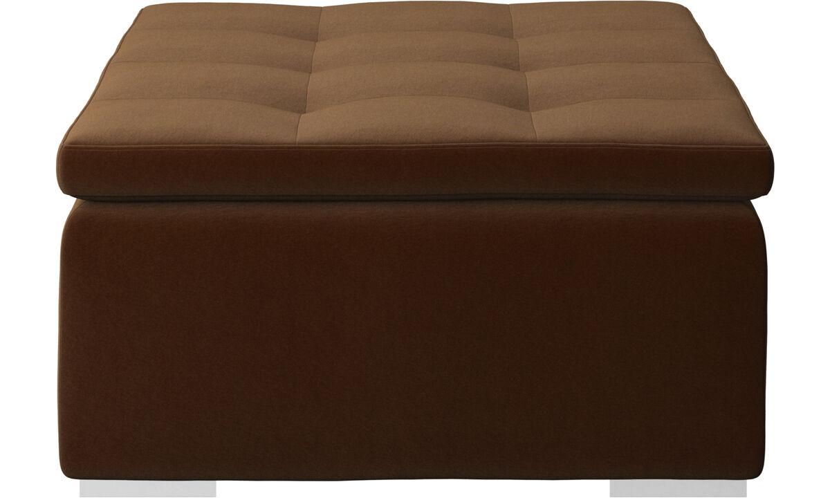 Footstools - Mezzo footstool - Brown - Fabric