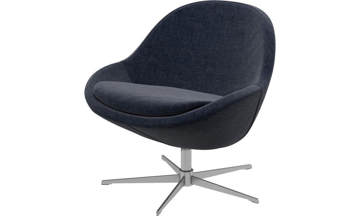 Navy blue napoli veneto fauteuil met draaivoet boconcept - Tafel boconcept ...