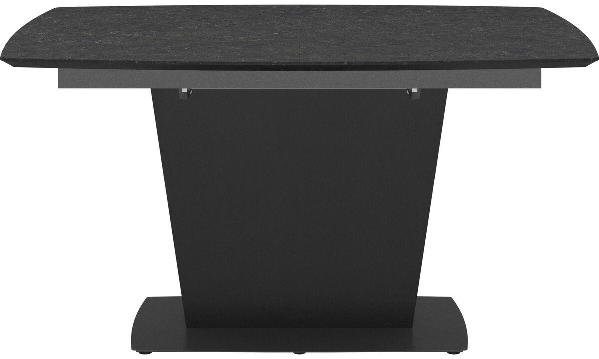 Mesas de comedor - mesa extensible con tablero suplementario Milano - cuadrado - En gris - Cerámica