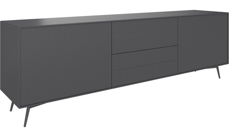 sideboard grau matt livia grey or white matt lacquered sideboard luna four door sideboard matt. Black Bedroom Furniture Sets. Home Design Ideas