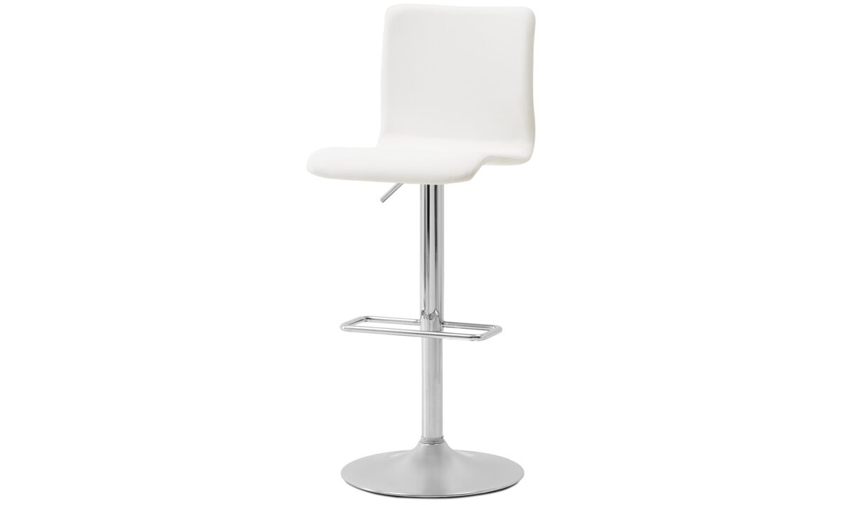 Bar stools - Siena barstool with gas cartridge - White - Leather