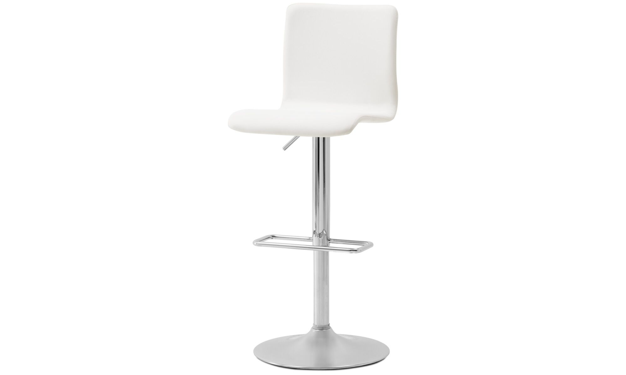 Barstools   Siena Barstool With Gas Cartridge   White   Leather