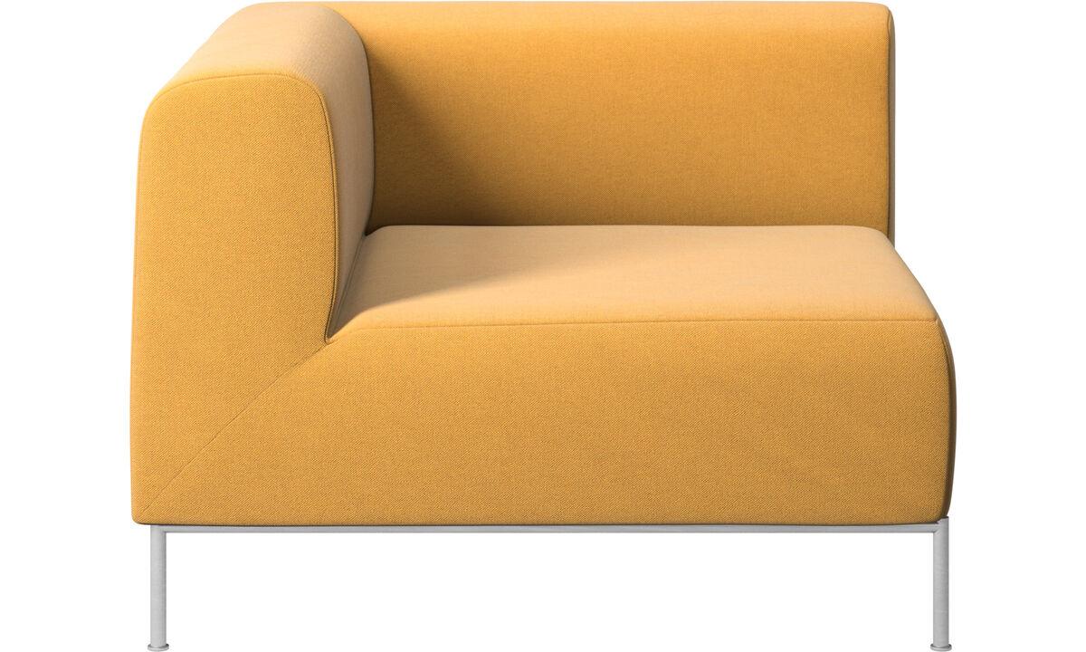 Sofás modulares - módulo esquinero Miami lado izquierdo - En amarillo - Tela