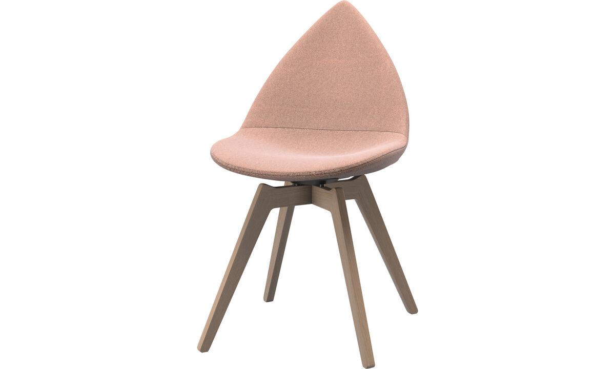 Krzesła do jadalni - krzesło Ottawa - Czerwone - Tkanina
