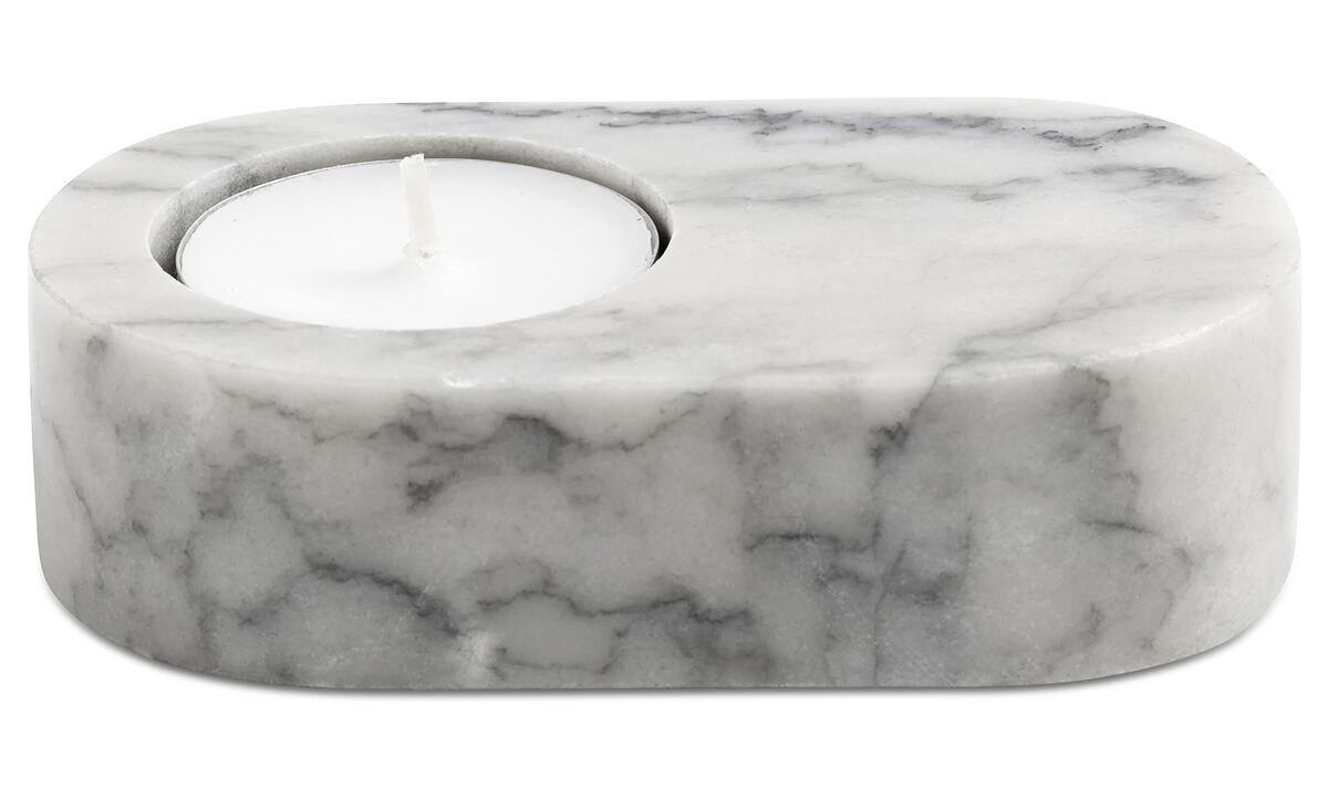 Candle holders - Living tealight holder - White - Stone