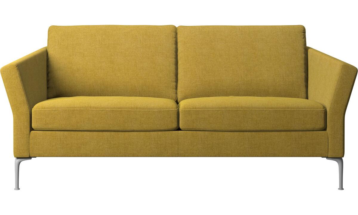 Sofás de 2 plazas y media - sofá Marseille - En amarillo - Tela