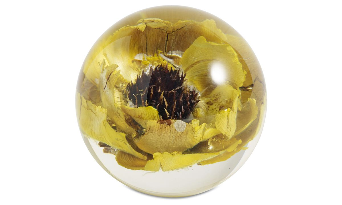 Decoration - Papaver rhoeas sculpture - Yellow - Plastic