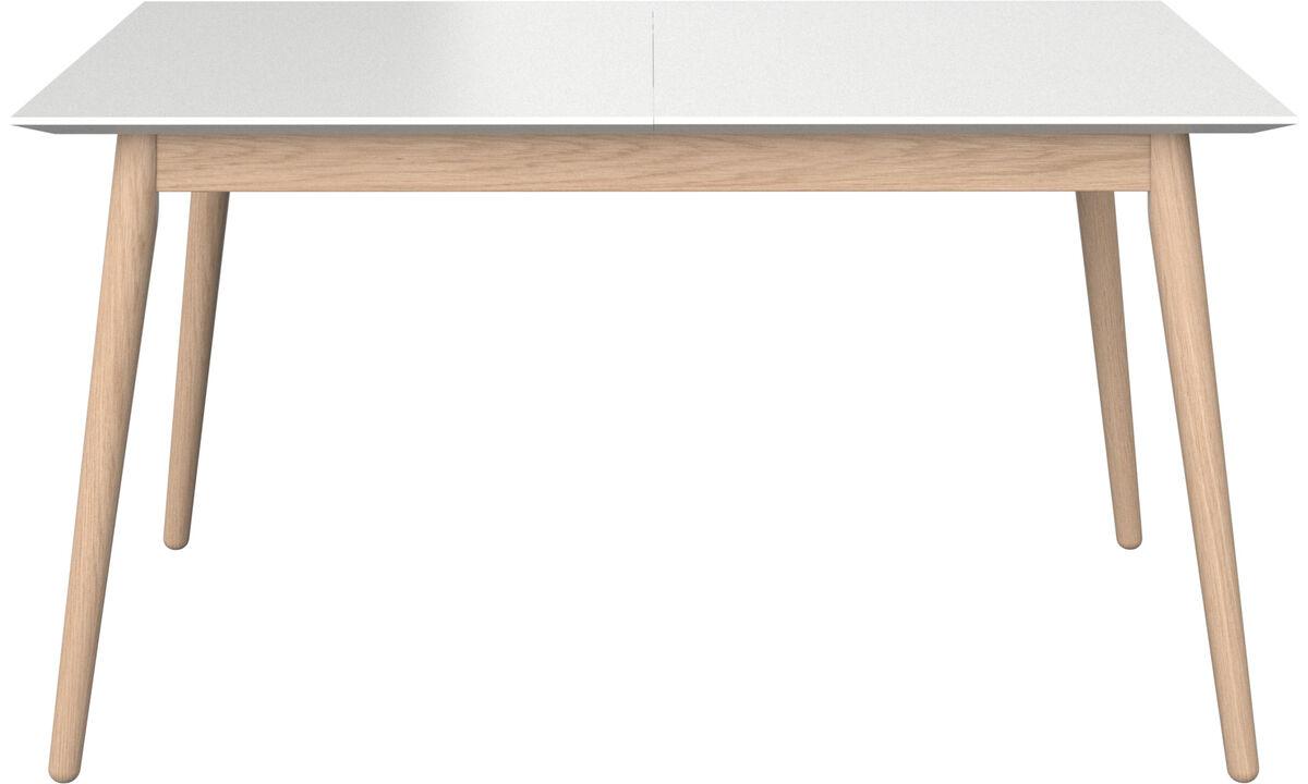 Stoły do jadalni - stół Milano z dodatkowym blatem - prostokątny - Biały - Lakier