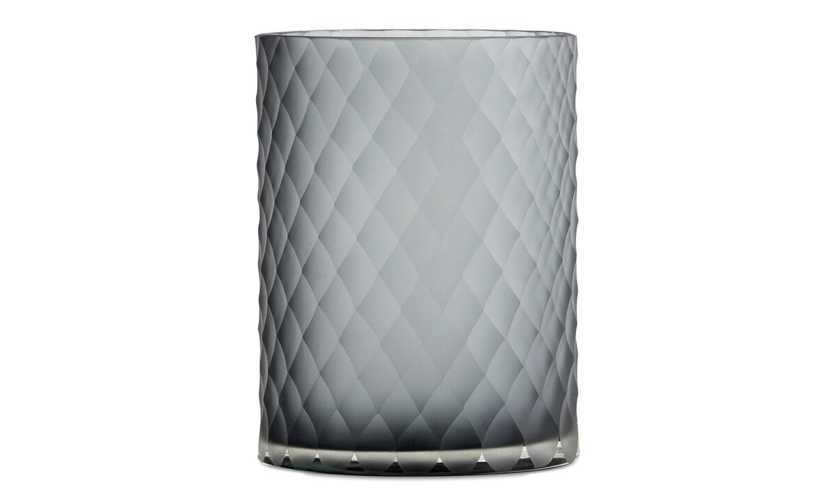 Vases - Tall vase - Grey - Glass