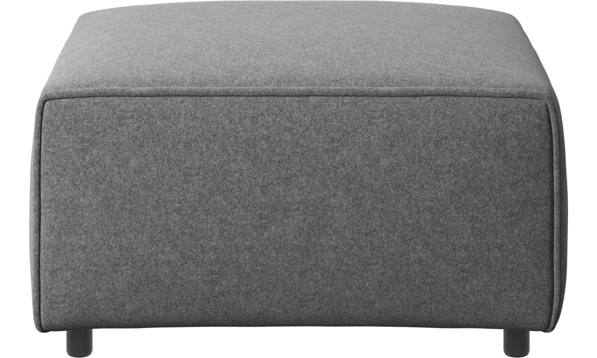 Armchairs and footstools - Carmo ottoman - Grey - Fabric