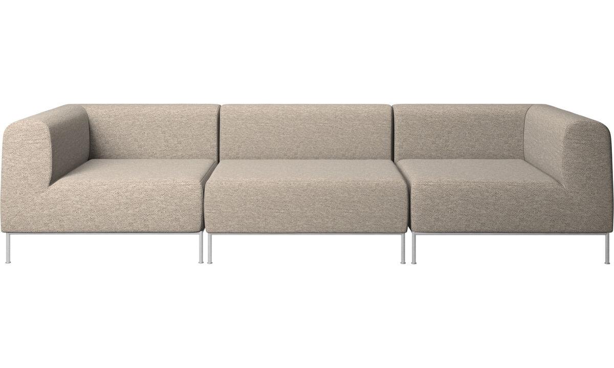 3 personers sofaer - Miami sofa - Beige - Stof