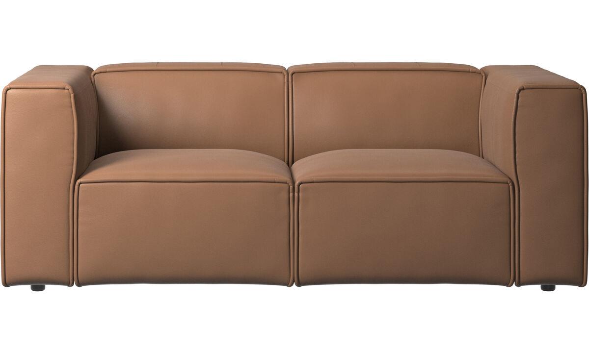 Sofás de 2 plazas - sofá Carmo - En marrón - Piel
