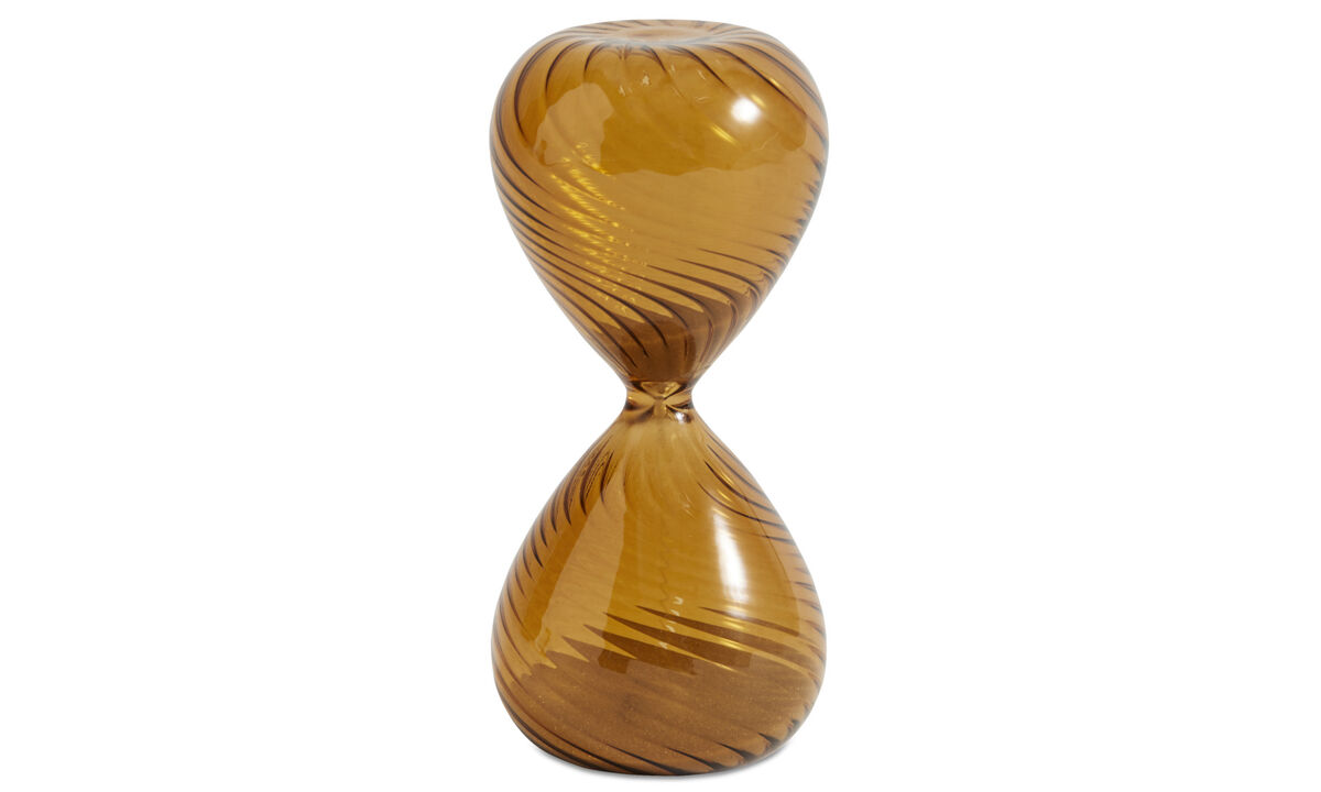 Decoration - Swirl hourglass - Orange - Glass