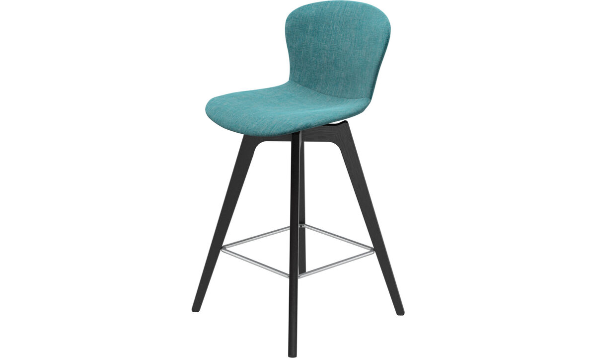 Bar stools - Adelaide barstool - Blue - Fabric