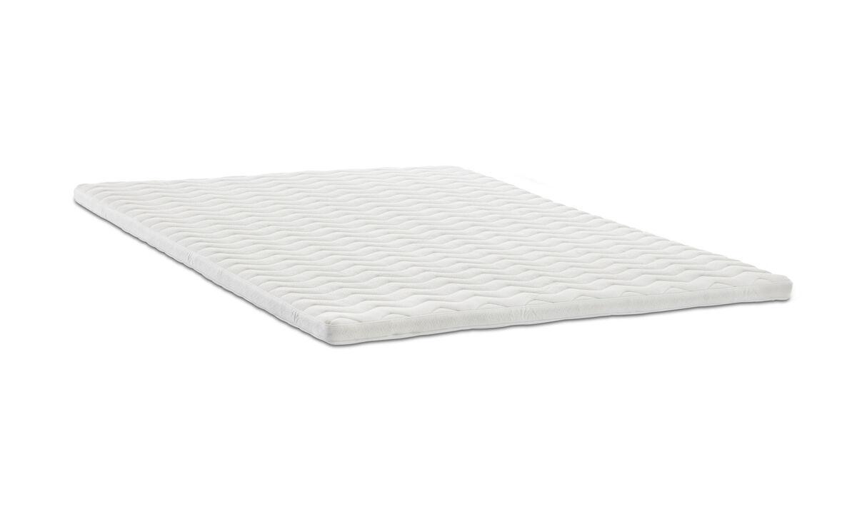 Colchones - Colchón superior Comfort - Blanco - Tela