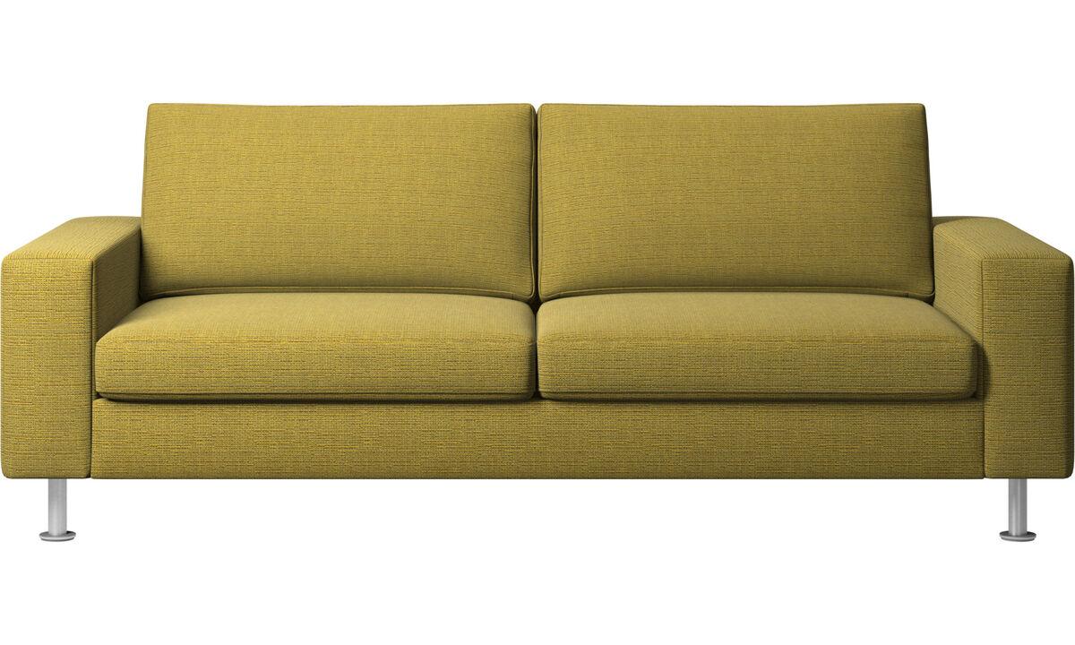 Sofás cama - sofá cama Indivi - En amarillo - Tela