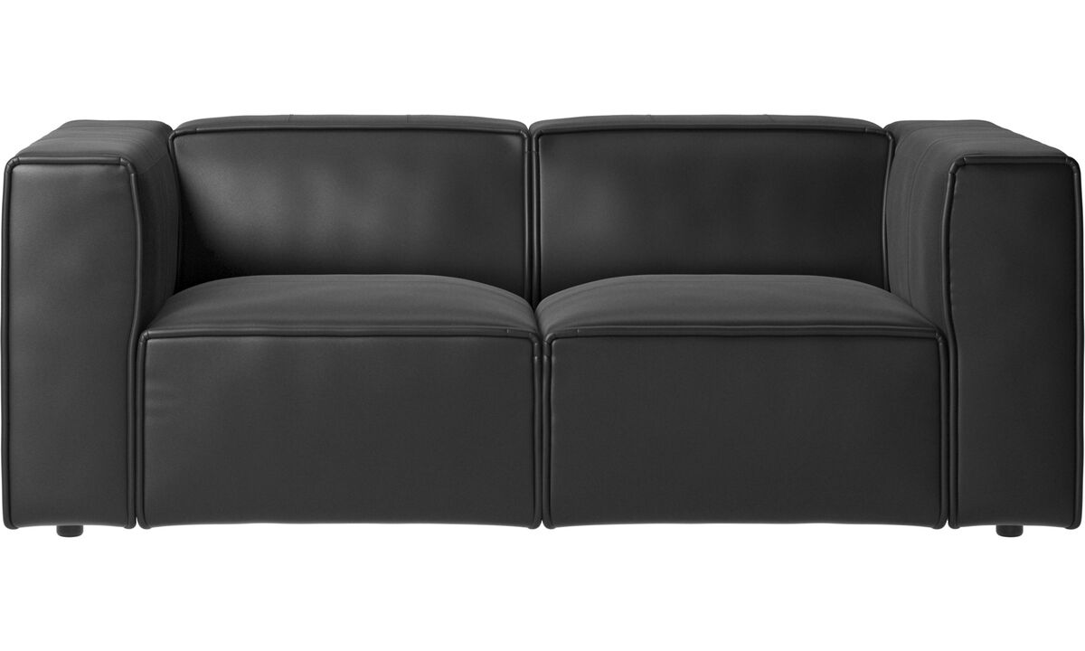 Modular sofas - Carmo sofa - Black - Leather