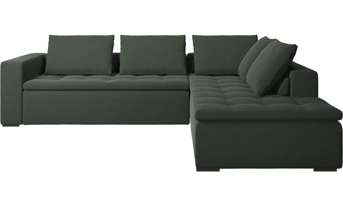 Sofás de canto - sofá de canto Mezzo - Verde - Tecido