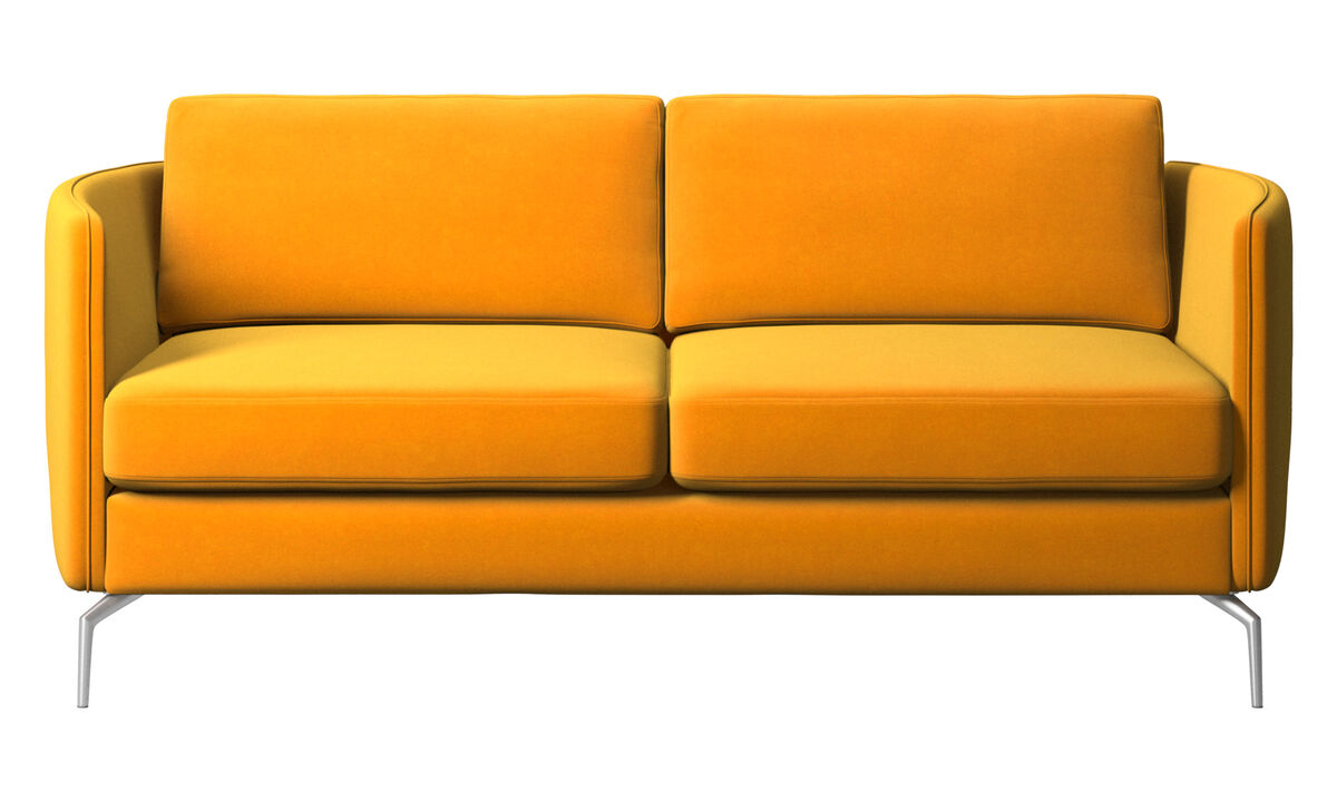 2 seater sofas - Osaka sofa, regular seat - Orange - Fabric