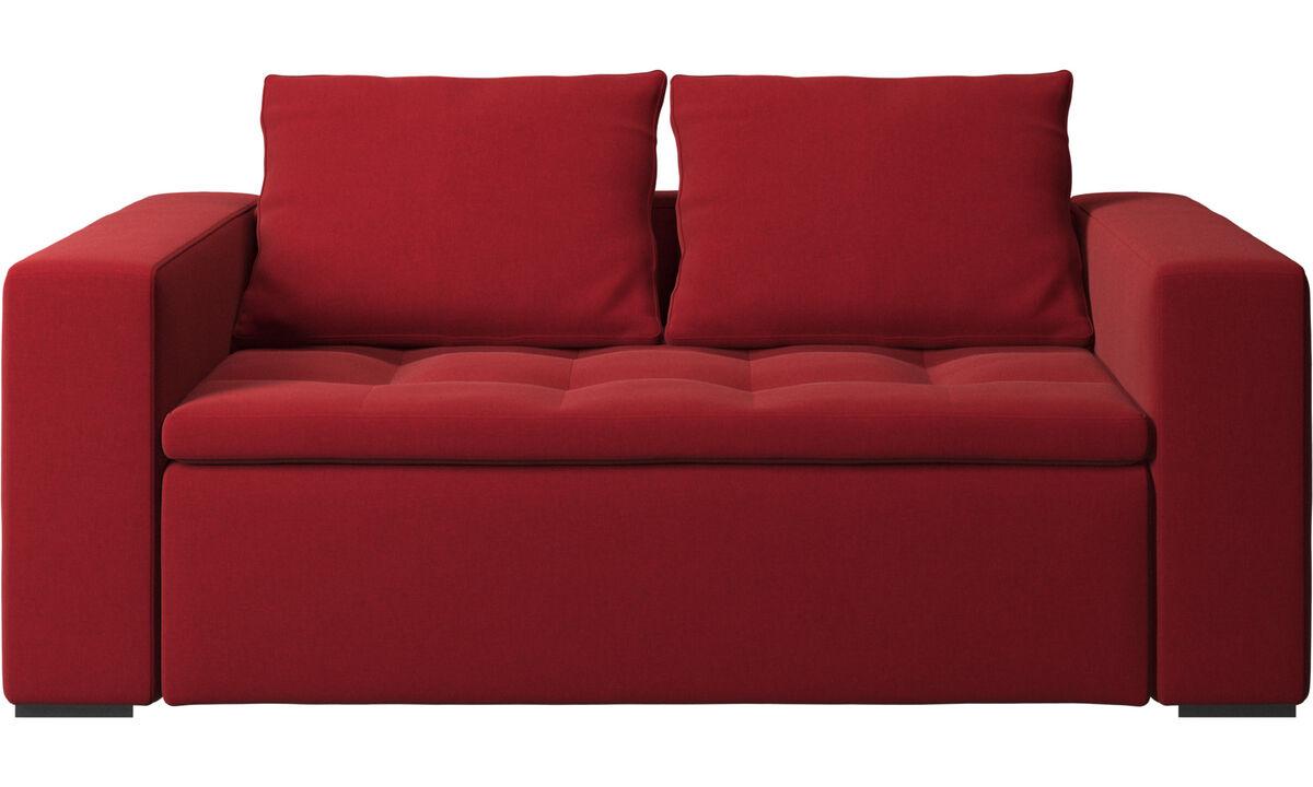 Sofás de 2 lugares - Sofá Mezzo - Vermelho - Tecido