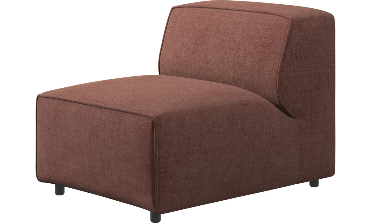 Modular sofas - Carmo chair/basic unit - Red - Fabric