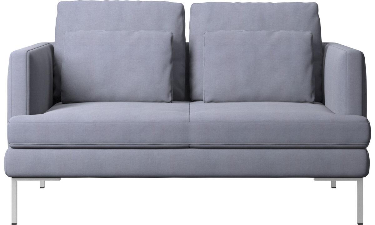 Sofás de 2 plazas - sofá Istra 2 - En azul - Tela
