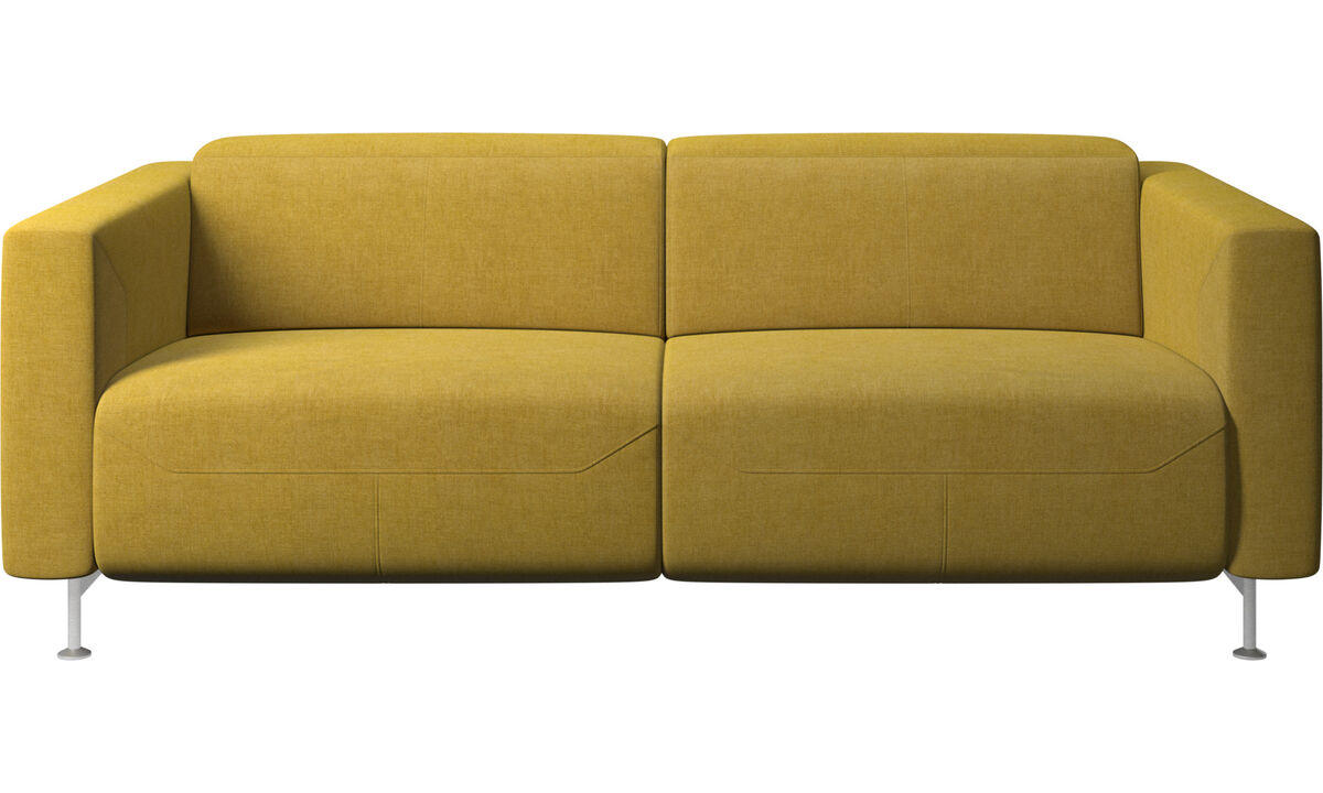Recliner sofas - Parma reclining sofa - Yellow - Fabric