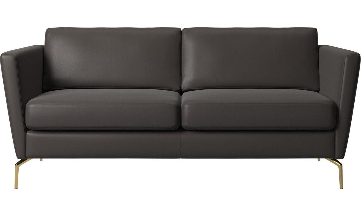 2 seater sofas - Osaka sofa, regular seat - Brown - Leather