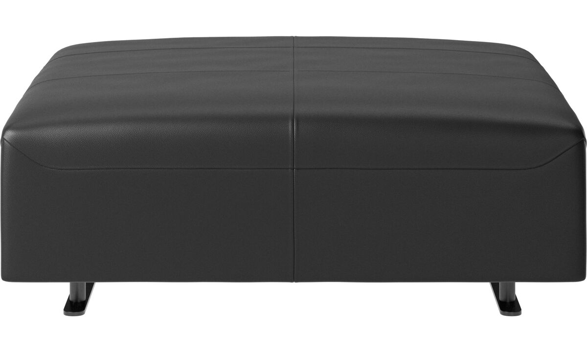 Footstools - Hampton footstool - Black - Leather