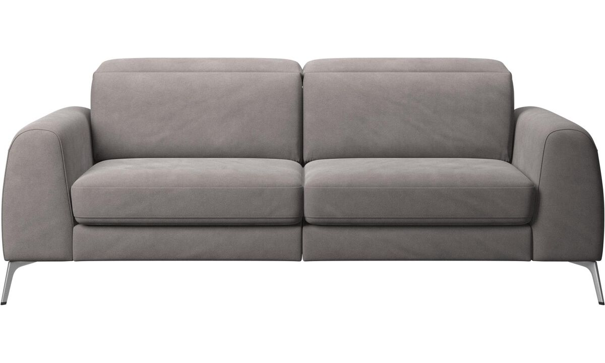 Sofa beds - Madison sofa with sleeper function and manual headrest - Gray - Fabric