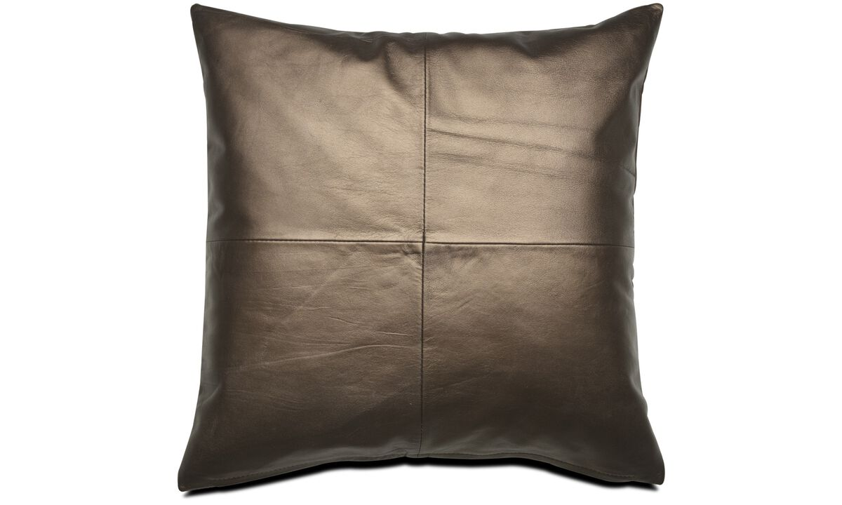 Leather cushions - Bronze cushion - Leather