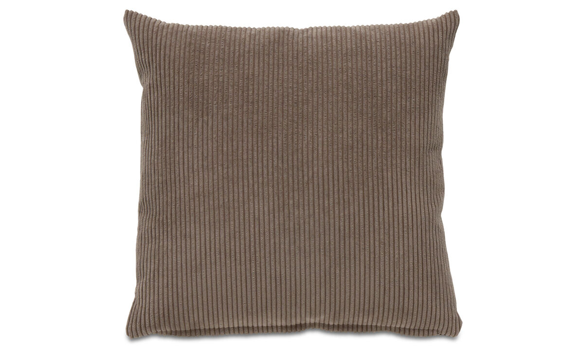 Patterned cushions - Cord cushion - Brown - Fabric