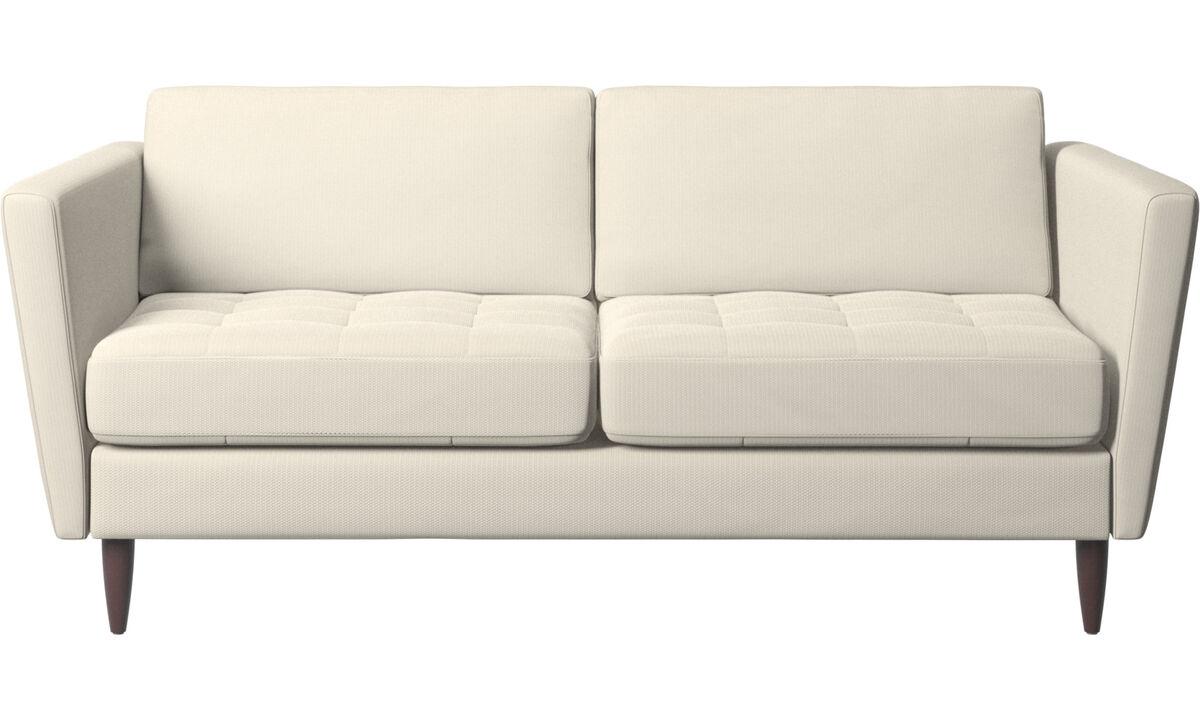 2 seater sofas - Osaka sofa, tufted seat - White - Fabric