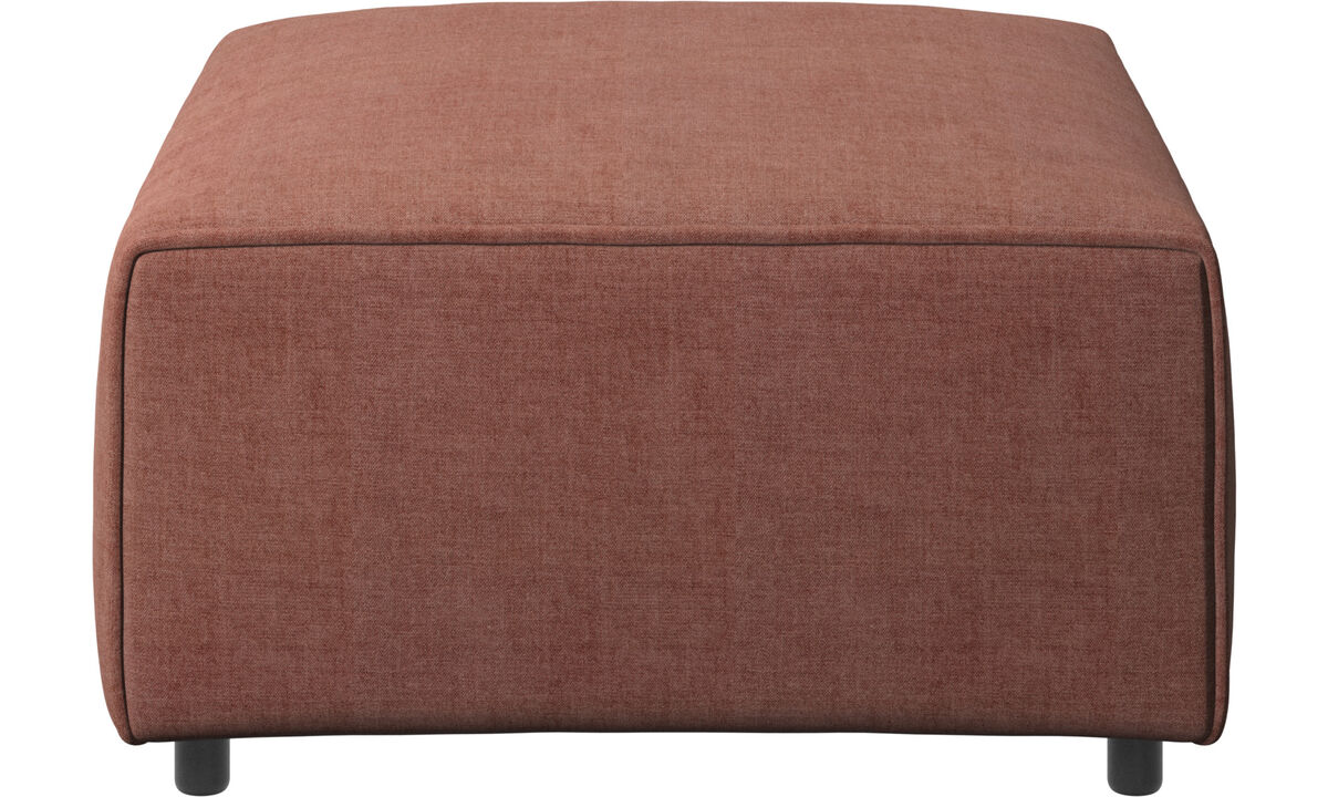 Modular sofas - Carmo footstool - Red - Fabric