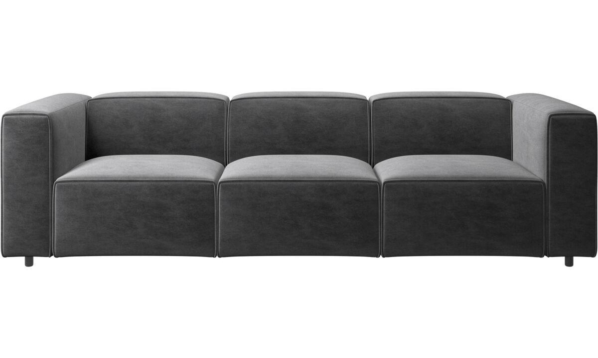 Sofás de 3 plazas - sofá Carmo - En gris - Tela