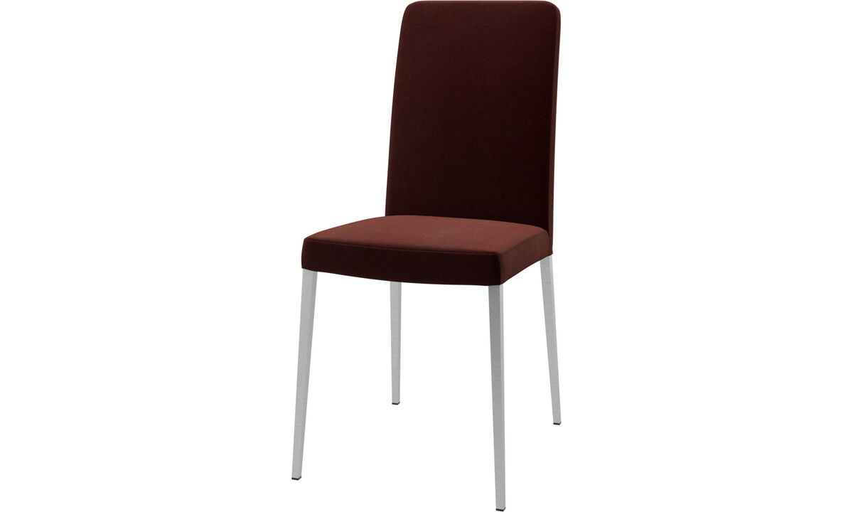 Dining chairs - Nico chair - Red - Fabric