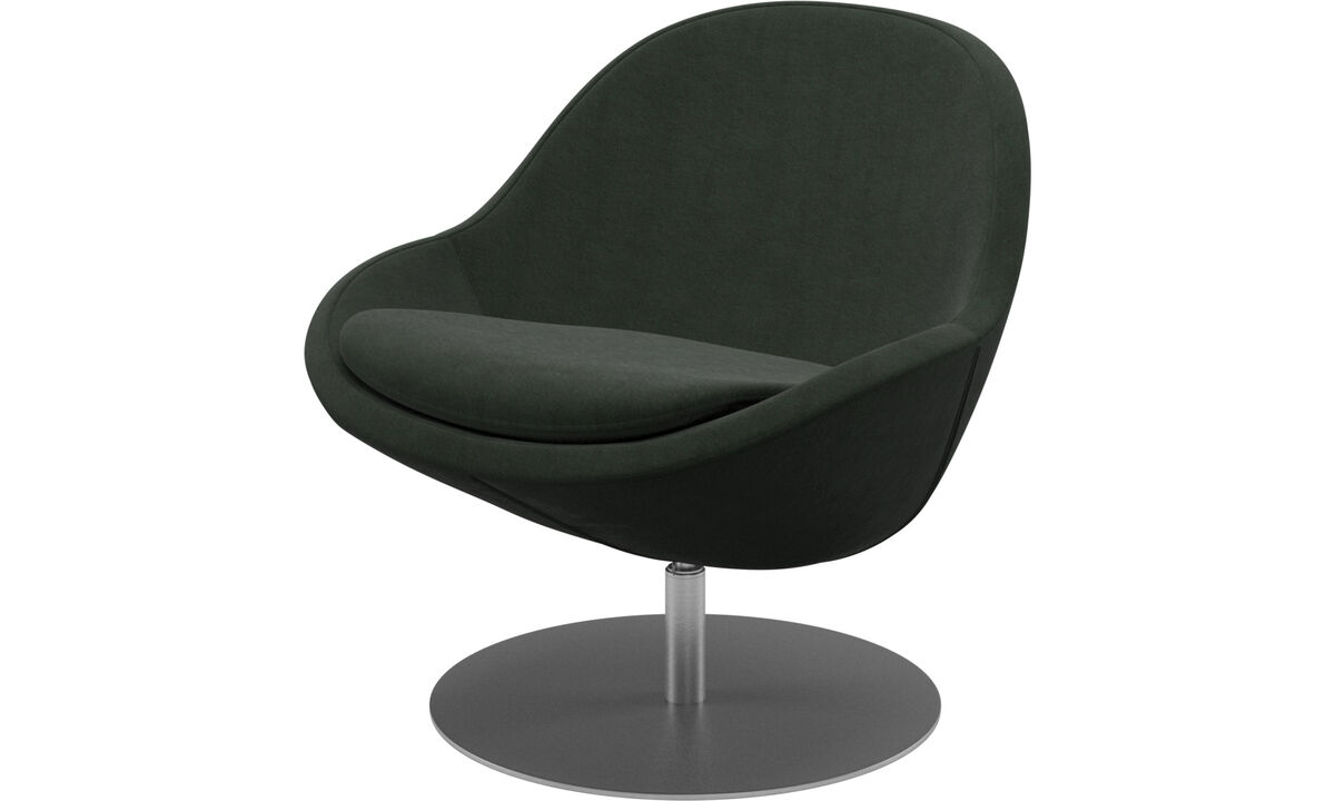Armchairs - Veneto chair with swivel function - Green - Fabric