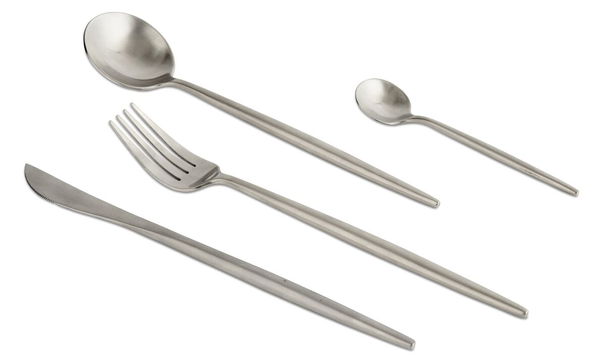 nora cutlery set - Grey - Metal