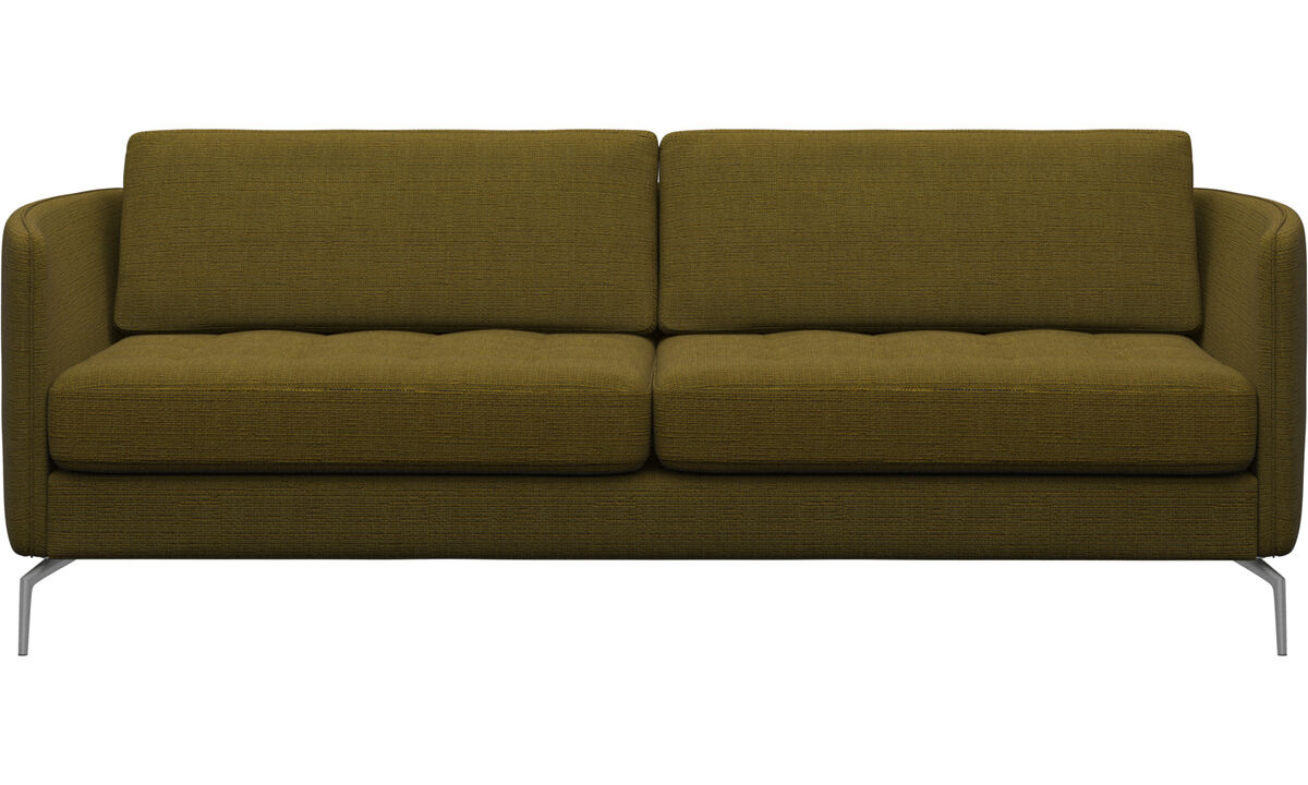 Sofás - sofá Osaka, assento tufado - Amarelo - Tecido